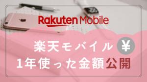 楽天モバイルを1年使った金額を公開!いくら支払ったか?年間実質1302円で使えました。
